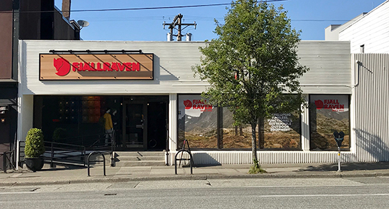 Fjallraven retailer in Vancouver, Vancouver