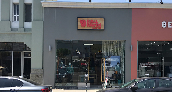 Fjallraven retailer in Los Angeles, California