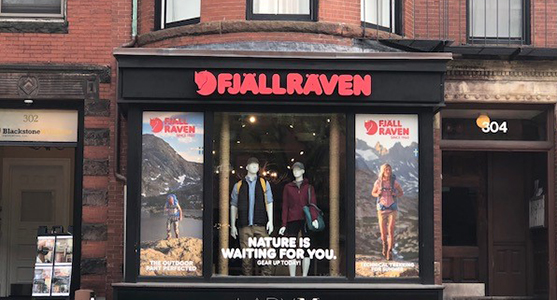 Fjallraven retailer in Boston, Massachusetts