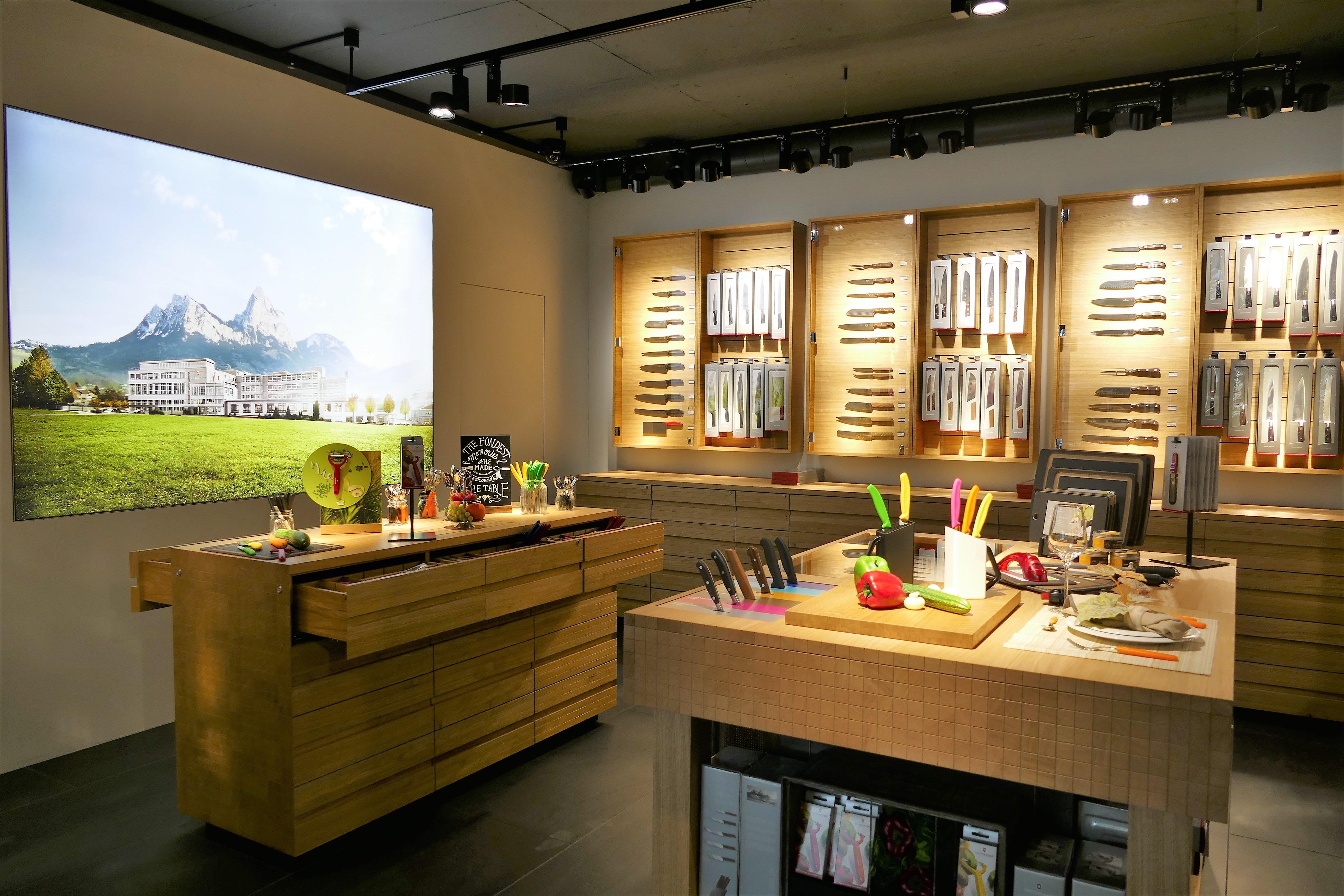 Store interior of Victorinox Store Andermatt, Andermatt