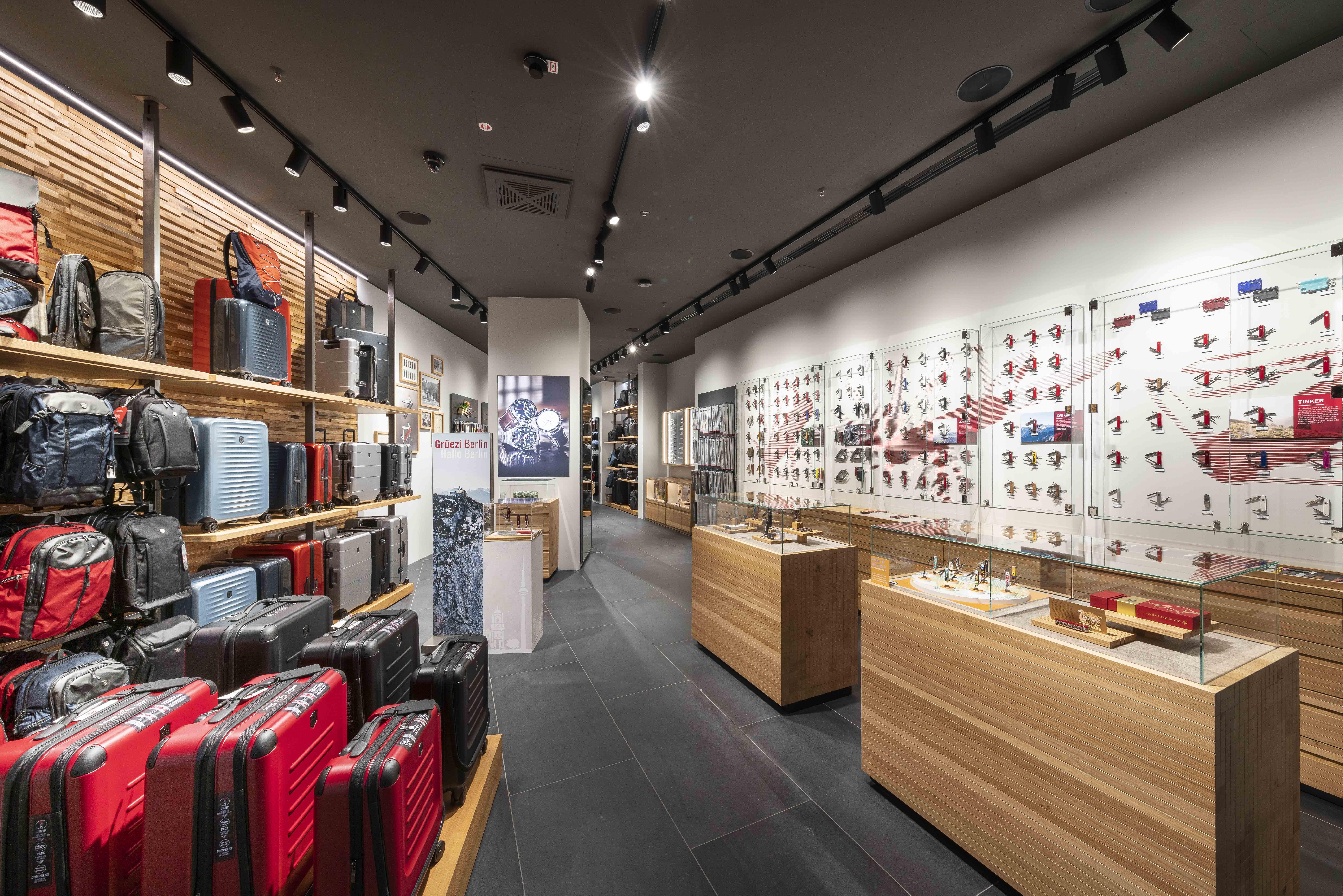 Store interior of Victorinox Store Berlin, Berlin
