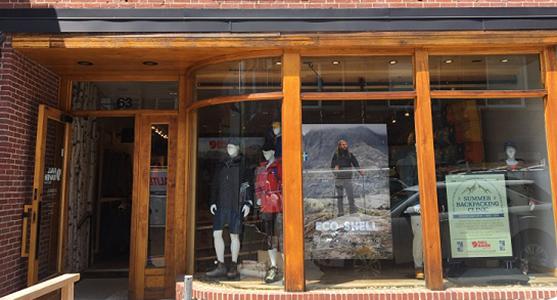 Fjallraven retailer in Cambridge, Massachusetts