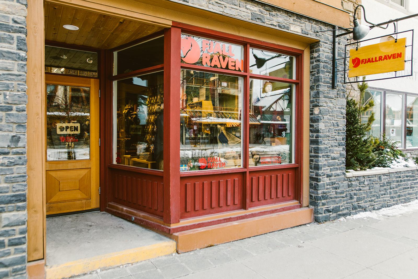 Fjallraven retailer in Banff, Alberta