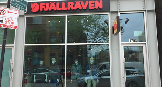 Fjallraven retailer in Chicago, Illinois